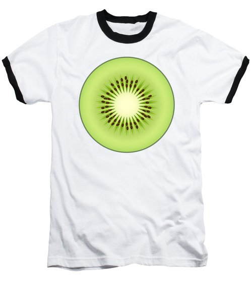 Kiwi Fruit Baseball T-Shirt by Miroslav Nemecek