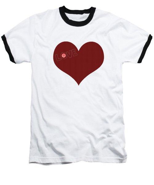 Knitted Heart.png Baseball T-Shirt by Anton Kalinichev