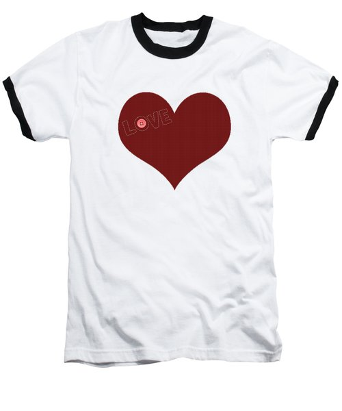 Knitted Heart.png Baseball T-Shirt