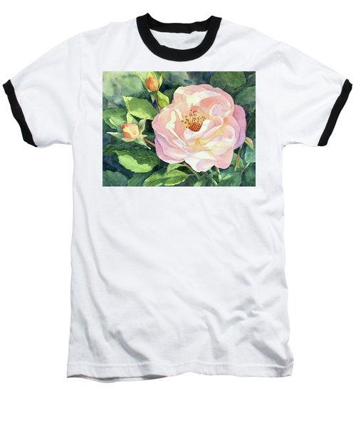 Knockout Rose And Buds Baseball T-Shirt by Vikki Bouffard