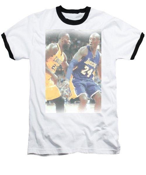 Kobe Bryant Lebron James 2 Baseball T-Shirt by Joe Hamilton
