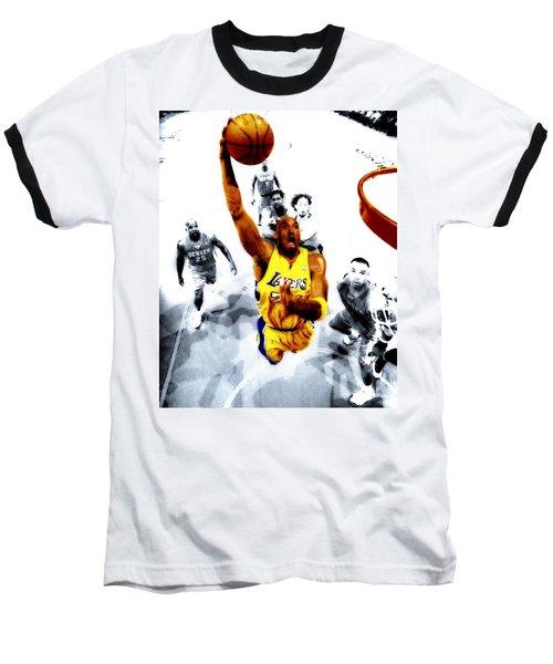 Kobe Bryant Took Flight Baseball T-Shirt by Brian Reaves