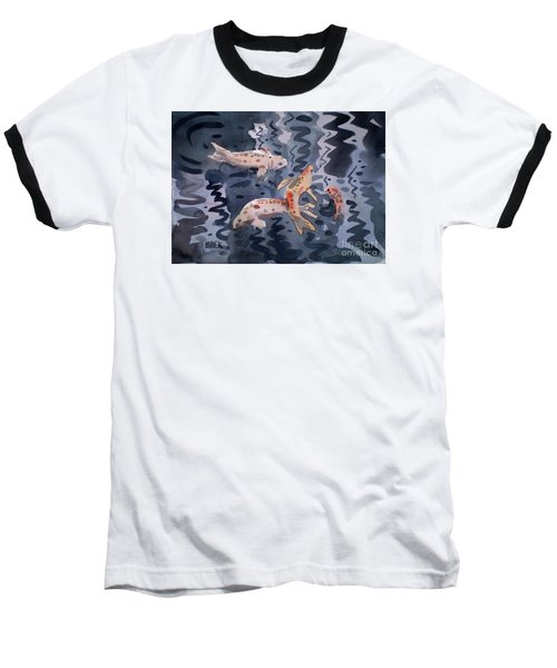 Koi Pond Baseball T-Shirt by Donald Maier