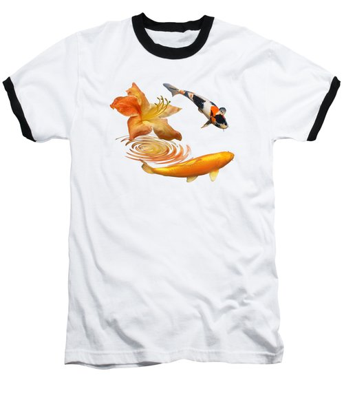 Koi With Azalea Ripples Baseball T-Shirt