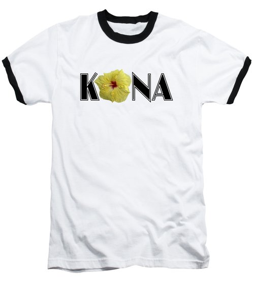 Kona Hibiscus Baseball T-Shirt