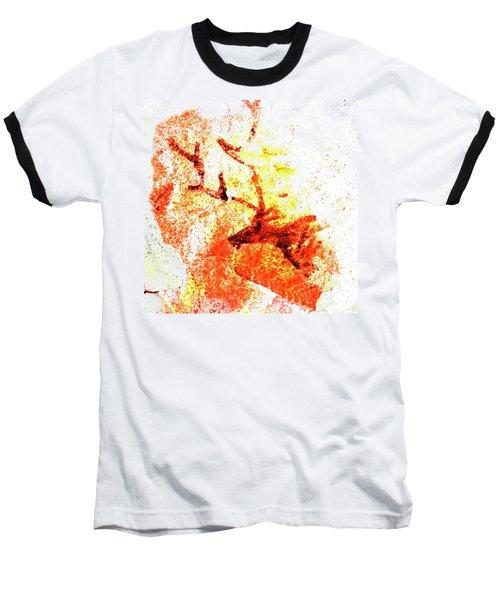 Kondane Deer Baseball T-Shirt by Asok Mukhopadhyay