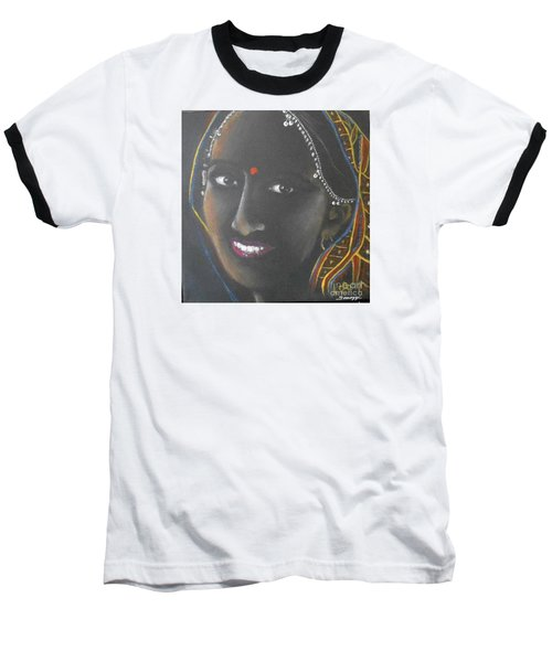 Kumkuma -- Close-up Portrait Of Indian Woman Baseball T-Shirt