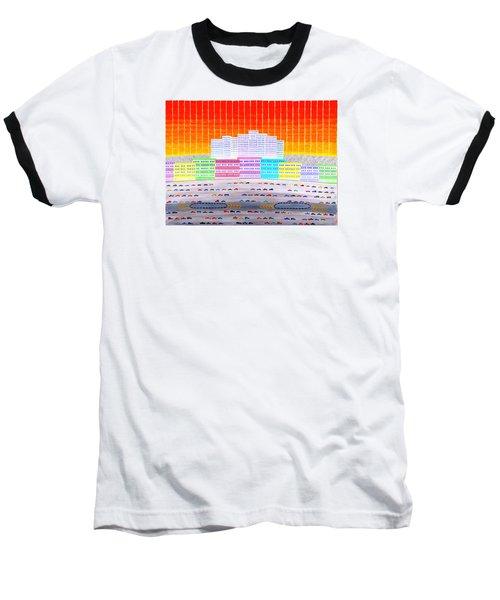 L.a. Cityscape Baseball T-Shirt