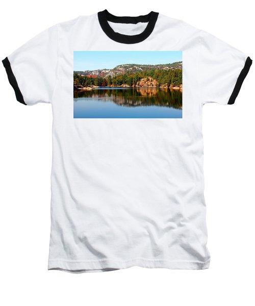 La Cloche Mountain Range Baseball T-Shirt by Debbie Oppermann