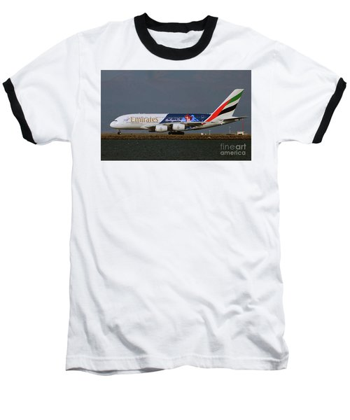 La Dodgers A380 Ready For Take-off At Sfo Baseball T-Shirt