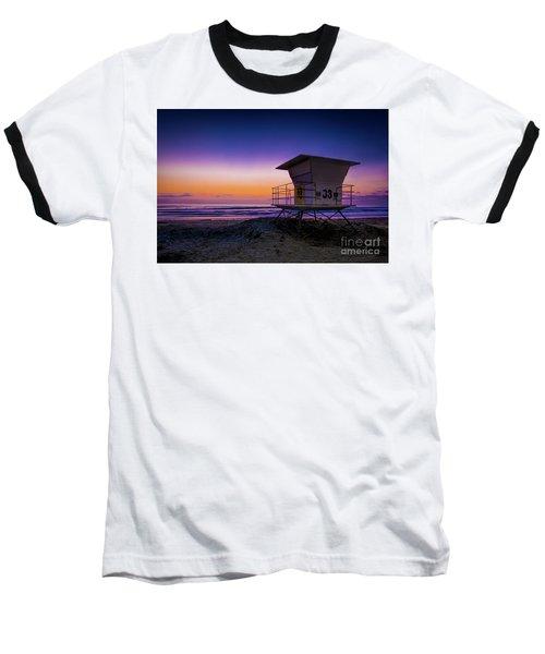 La Jolla Beach Sunset Baseball T-Shirt