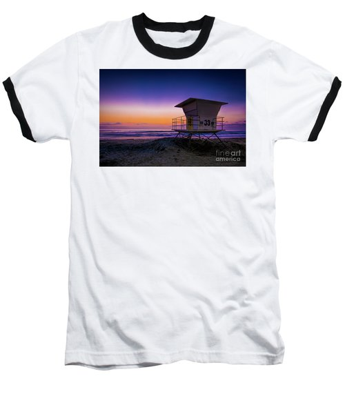 La Jolla Beach Sunset Baseball T-Shirt