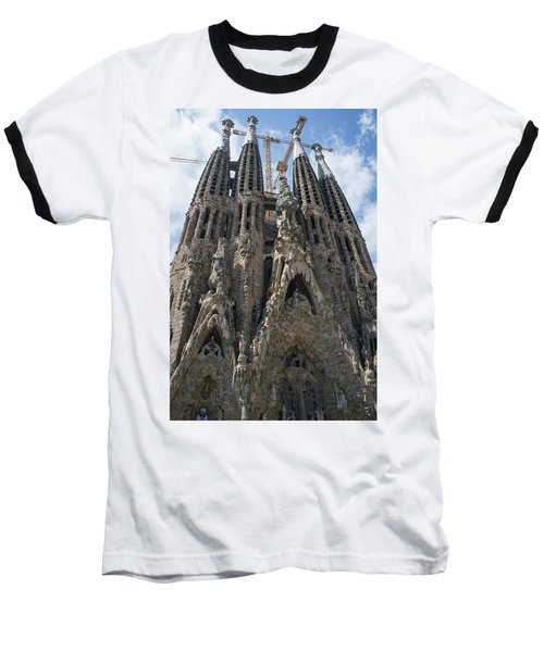 Baseball T-Shirt featuring the photograph La Sagrada Familia by Frank DiMarco