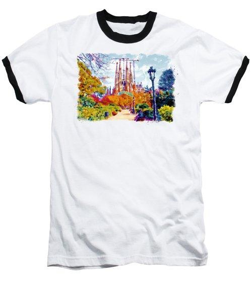 La Sagrada Familia - Park View Baseball T-Shirt