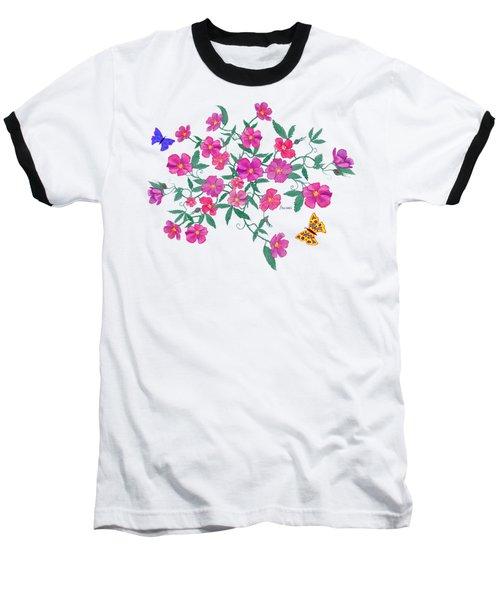 La Vie En Rose Design Baseball T-Shirt by Teresa Ascone
