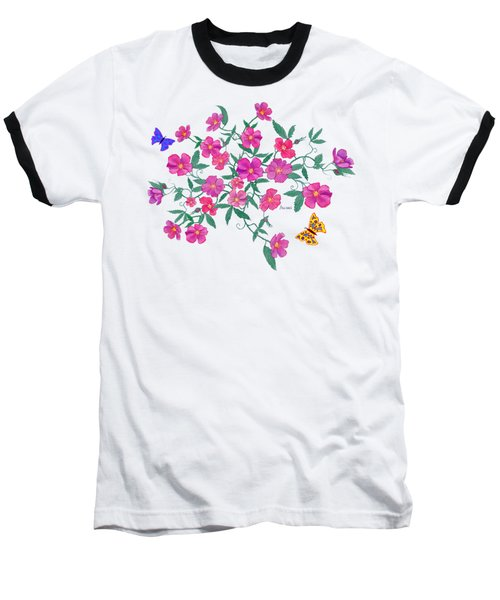La Vie En Rose Design Baseball T-Shirt