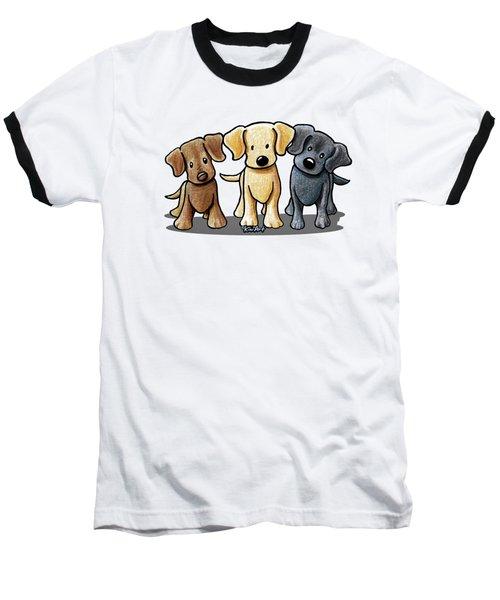 Labrador Beach Trio Baseball T-Shirt