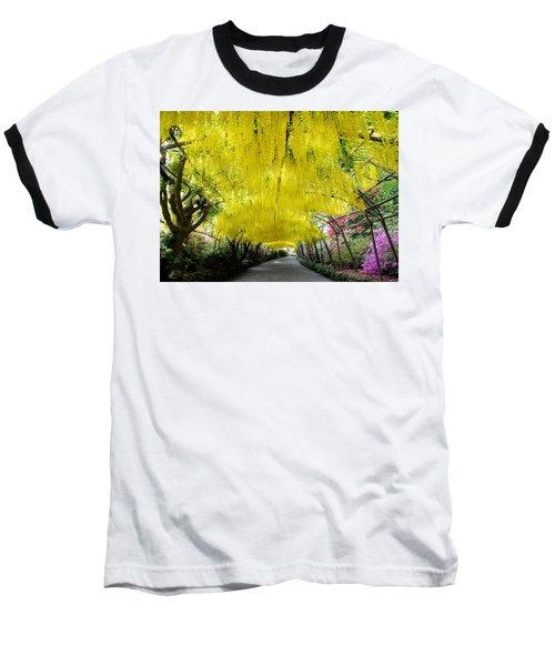 Laburnum Arch, Bodnant Garden Baseball T-Shirt