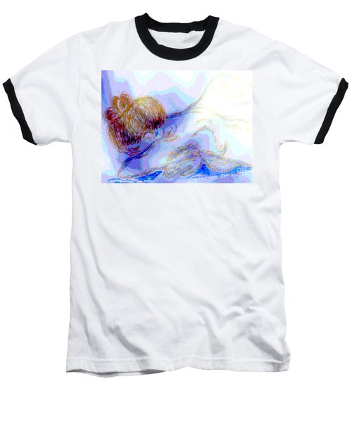 Lady Crying Baseball T-Shirt