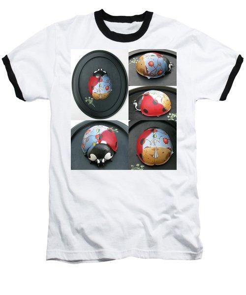 Ladybug On The Half Shell Baseball T-Shirt