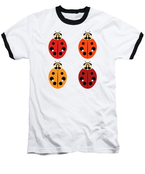 Ladybug Quartet Baseball T-Shirt