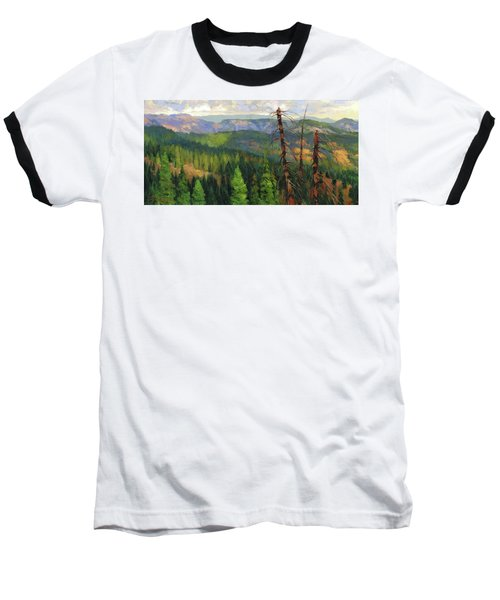 Baseball T-Shirt featuring the painting Ladycamp by Steve Henderson