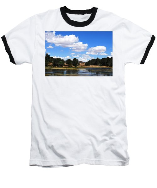 Lake Cuyamac Landscape And Clouds Baseball T-Shirt