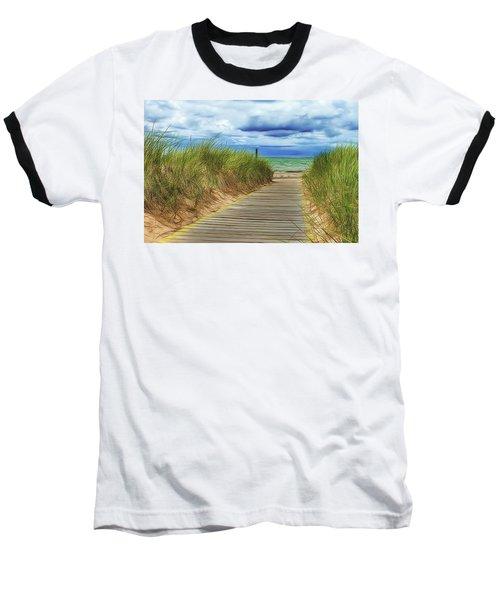Baseball T-Shirt featuring the photograph Lake Huron Boardwalk by Bill Gallagher