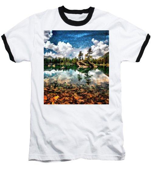 Lake Island View Baseball T-Shirt