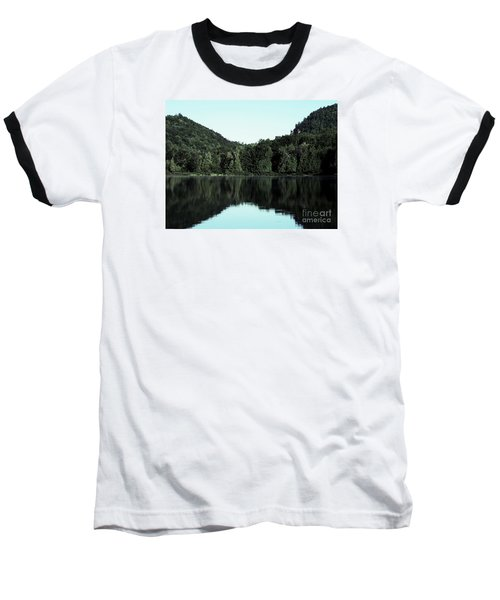 Lake Landscape Baseball T-Shirt by France Laliberte
