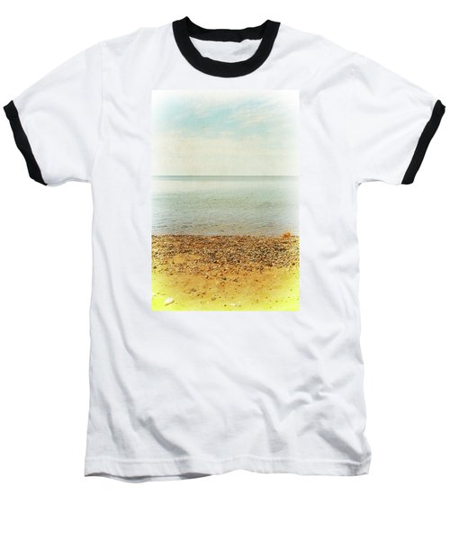 Baseball T-Shirt featuring the photograph Lake Michigan With Stony Shore by Michelle Calkins