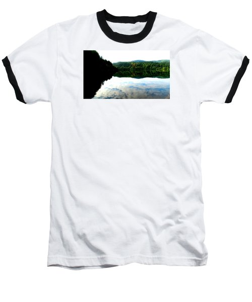 Lake Padden Cloud Reflection Baseball T-Shirt