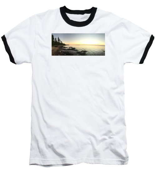 Baseball T-Shirt featuring the photograph Lake Superior Evening Sky by Paula Brown