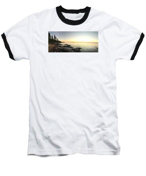 Lake Superior Evening Sky Baseball T-Shirt by Paula Brown