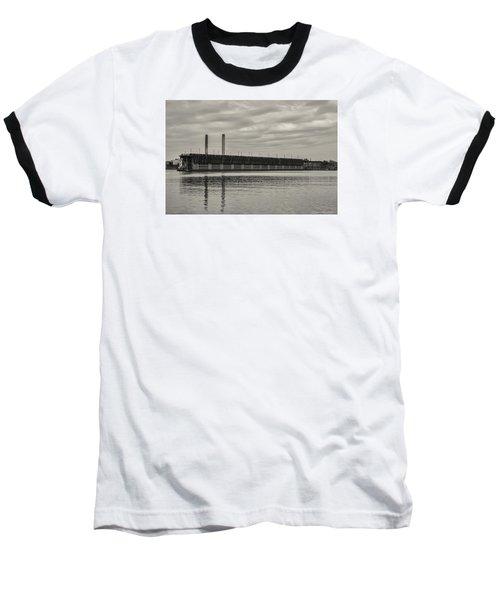 Lake Superior Oar Dock Baseball T-Shirt by Dan Hefle
