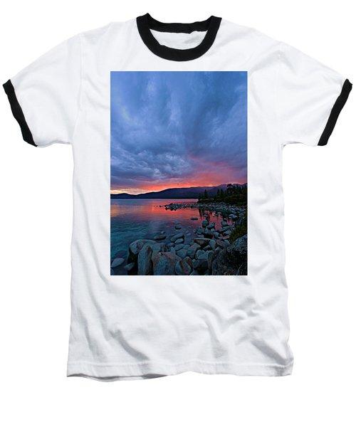 Lake Tahoe Sunset Portrait 2 Baseball T-Shirt