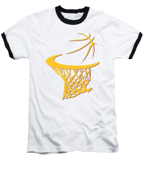 Lakers Basketball Hoop Baseball T-Shirt by Joe Hamilton