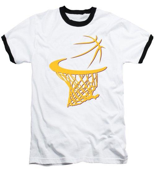 Lakers Basketball Hoop Baseball T-Shirt
