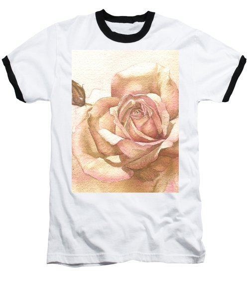 Baseball T-Shirt featuring the painting Lalique Rose by Sandra Phryce-Jones