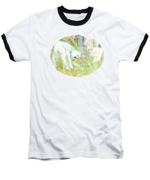Lamb And Lilies - Verse Baseball T-Shirt by Anita Faye