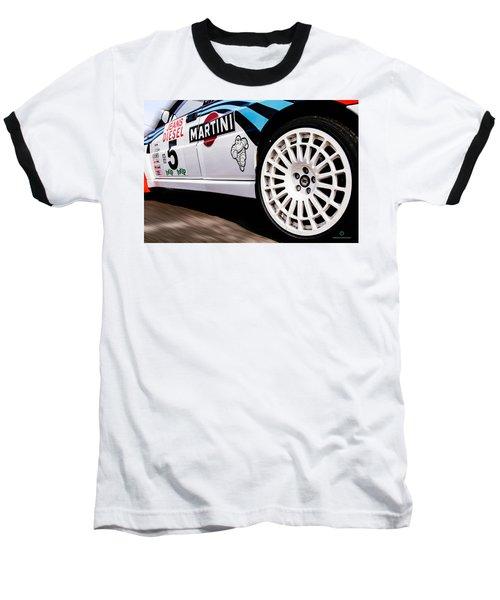 Lancia Delta Hf Integrale Baseball T-Shirt by Cesare Bargiggia