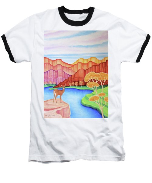 Land Of Enchantment Baseball T-Shirt by Tracy Dennison