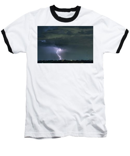 Baseball T-Shirt featuring the photograph Landing In A Storm by James BO Insogna