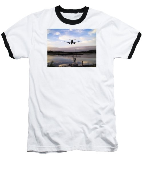 Landing In George Best Baseball T-Shirt