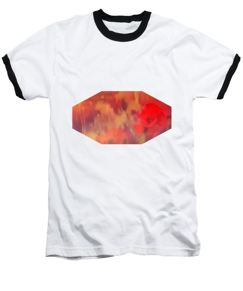 Landscape Of Dreaming Poppies Baseball T-Shirt