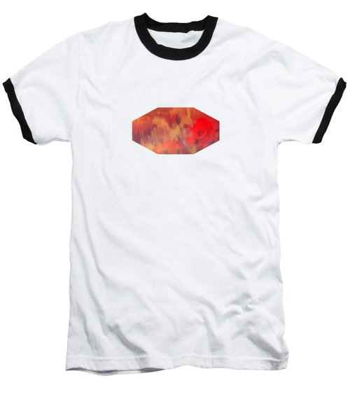 Landscape Of Dreaming Poppies Baseball T-Shirt