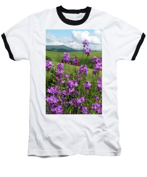 Baseball T-Shirt featuring the photograph Landscape With Purple Flowers In Virginia by Emanuel Tanjala
