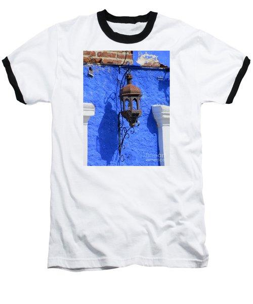 Lantern On Blue Wall Baseball T-Shirt