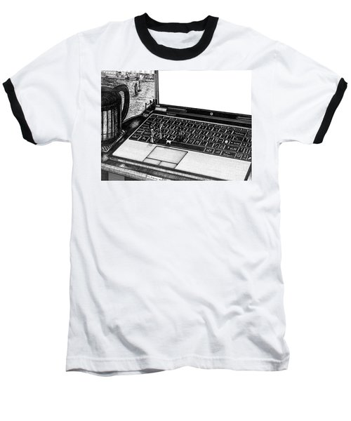 Laptop Baseball T-Shirt