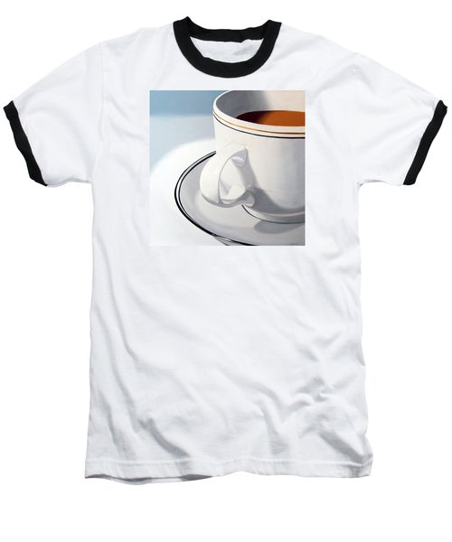 Large Coffee Cup Baseball T-Shirt by Mark Webster